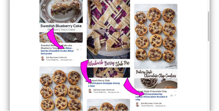 Hashtags on Pinterest are a thing! Use them!