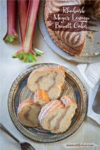 Rhubarb Meyer Lemon Bundt Cake. Photo and recipe by Irvin Lin of Eat the Love.