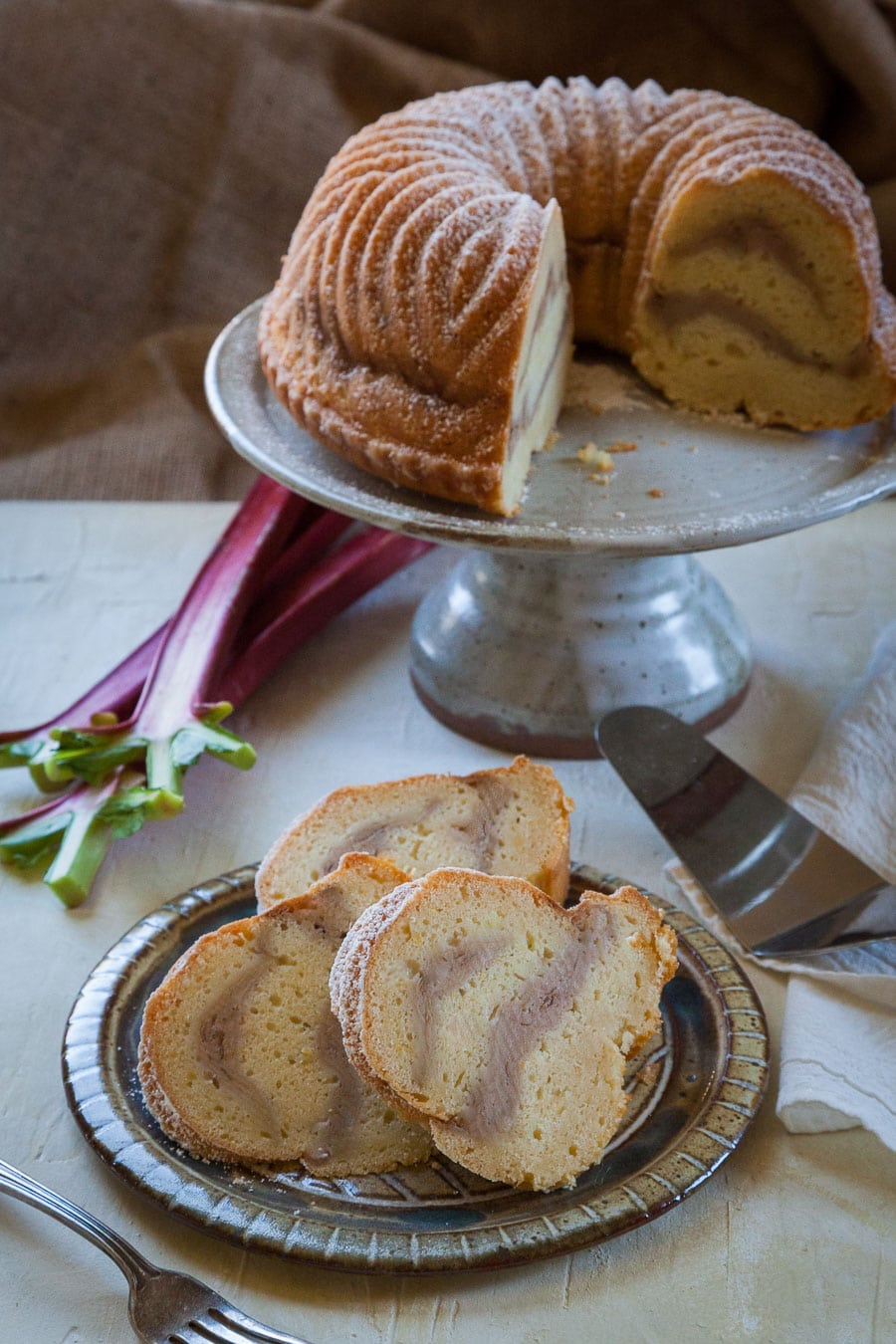 Rhubarb Meyer Lemon Cake. Photo and recipe by Irvin Lin of Eat the Love.