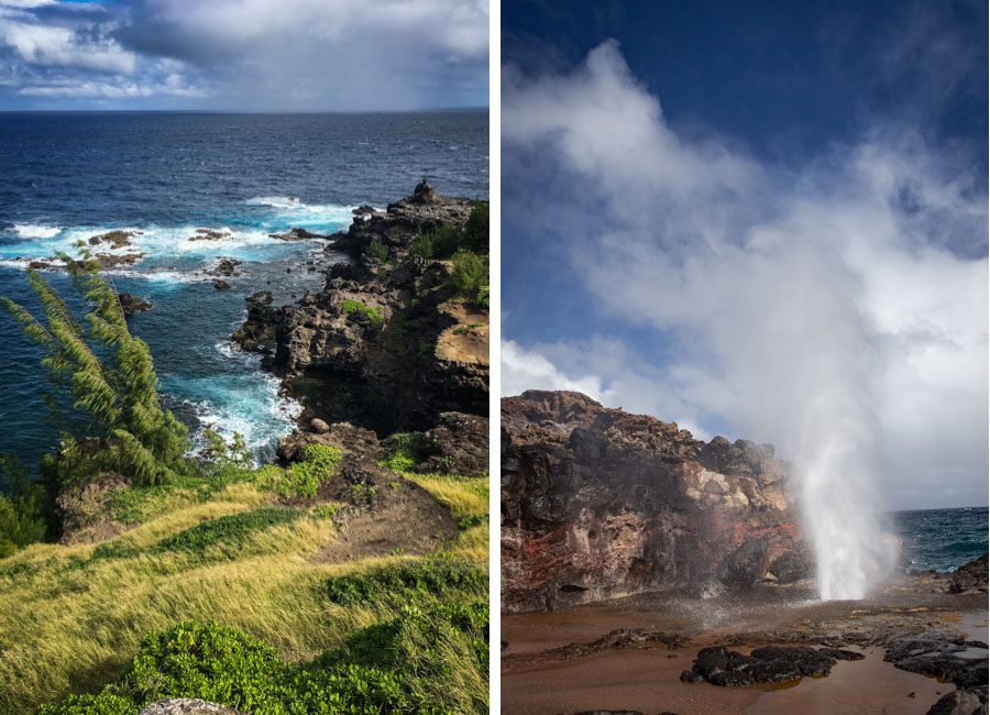 West Maui and the Blowhole.