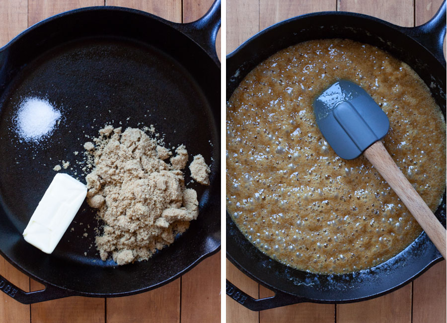 cook the caramel until thick and bubbly.