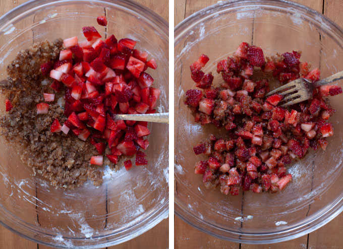 Stir in the strawberries.