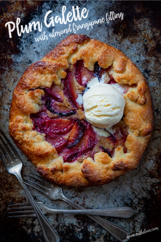 Plum Galette with Almond Frangipane Filling