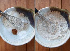 Combine all the dry ingredients together with a balloon whisk