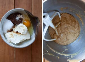 Combine the cream cheese filling into the bowl of stand mixer and beat until smooth and the coffee has dissolved.