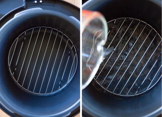 place wire rack in Crock-Pot then fill with 2 cups of water.