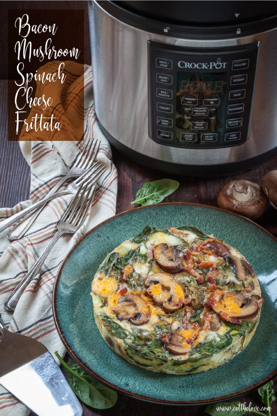 Bacon, Mushroom, Spinach and Cheese Frittata [Sponsored Post]