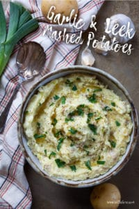 Garlic and Leek Mashed Potatoes