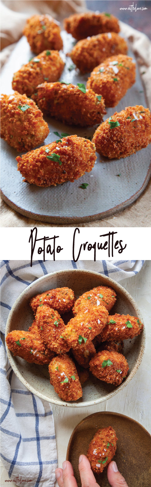 Potato Croquettes, a great way to use up leftover mashed potatoes. #leftovers #thanksgiving #mashedpotatoes #potatoes #fried #croquettes #potatoes #easy #fast #sidedish #recipe
