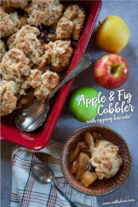 Apple and Fig Cobbler with Eggnog Biscuits.
