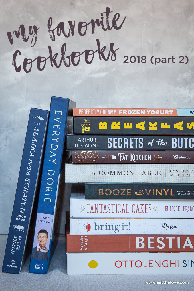 Roundup of Cookbooks released in 2018, part 2