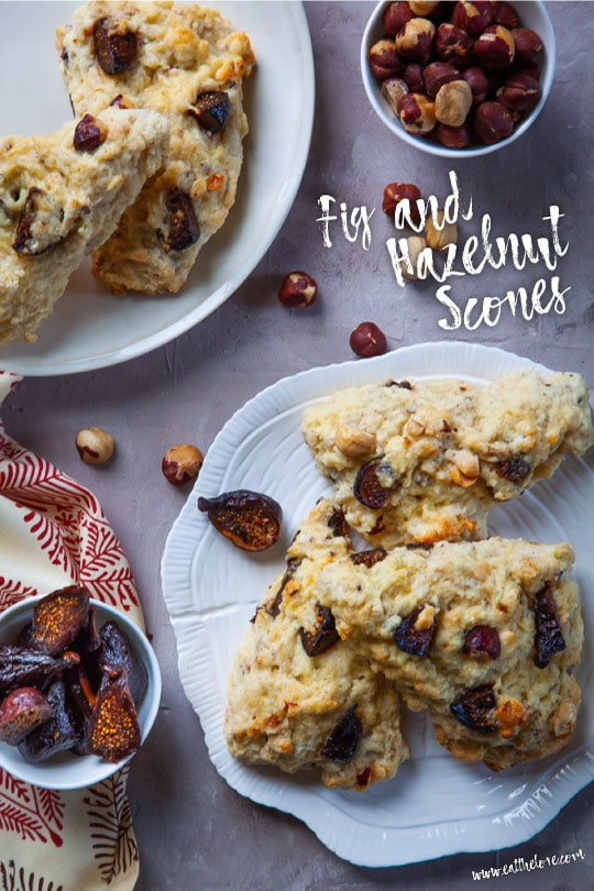 Fig and Hazelnut Scones