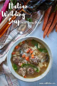 Italian Wedding Soup in a bowl