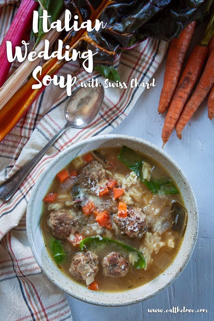 Italian Wedding Soup in a bowl