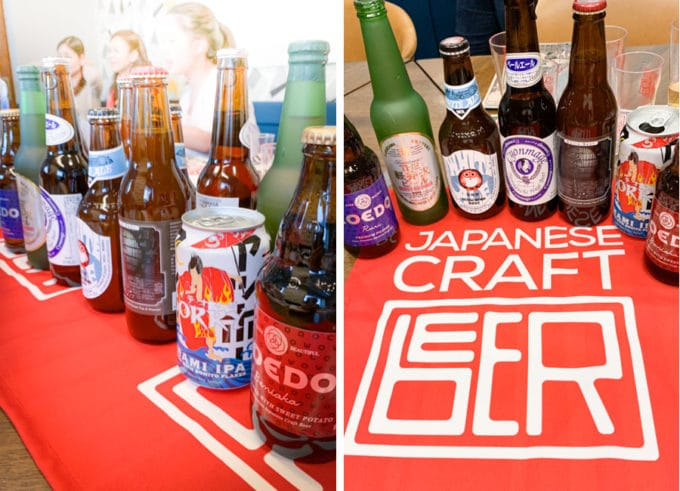 A sampling of Japanese Craft Beer.