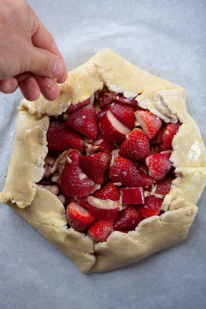 Strawberry Rhubarb Crostata