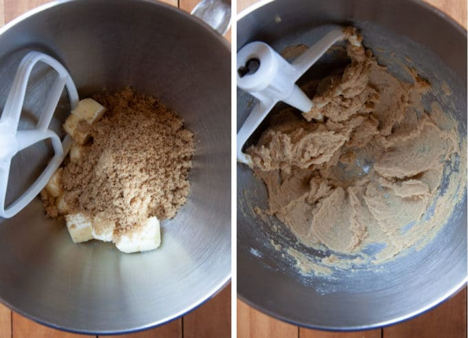 Cream the butter and sugar together until fluffy.