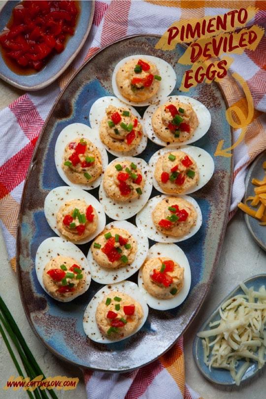 Pimiento Deviled Eggs