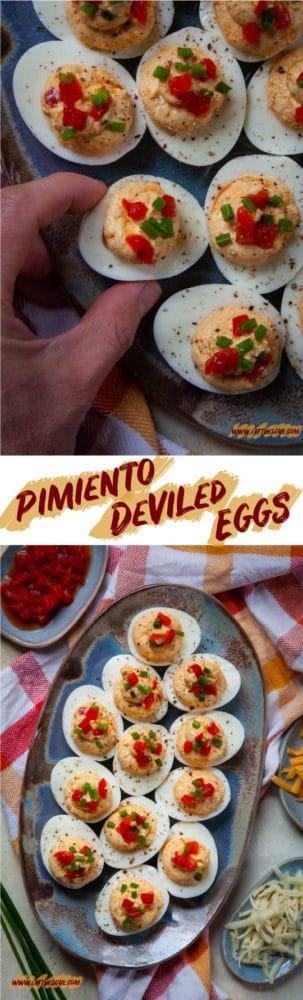 Pimiento Cheese Deviled Eggs! #pimientocheese #deviledeggs #pimentocheese