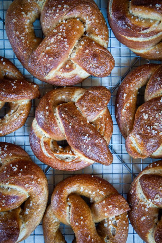 Soft Rye Pretzels Recipe