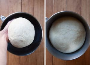 Let dough rise in greased bowl for 50 to 60 minutes or until dough has doubled.
