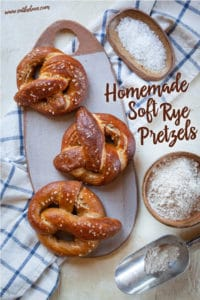 Homemade Soft Rye Pretzels