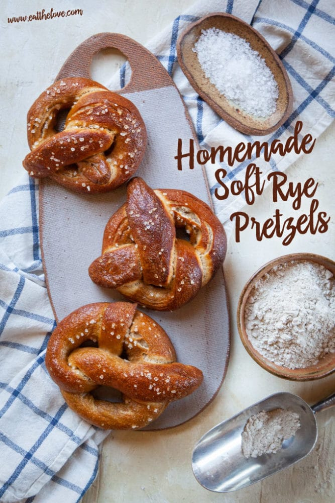 Homemade Soft Rye Pretzel Recipe