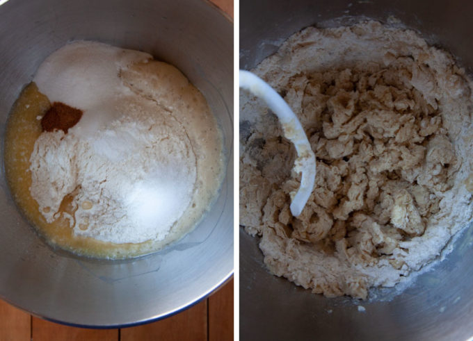 Add the remaining dry ingredients and mix to combine.