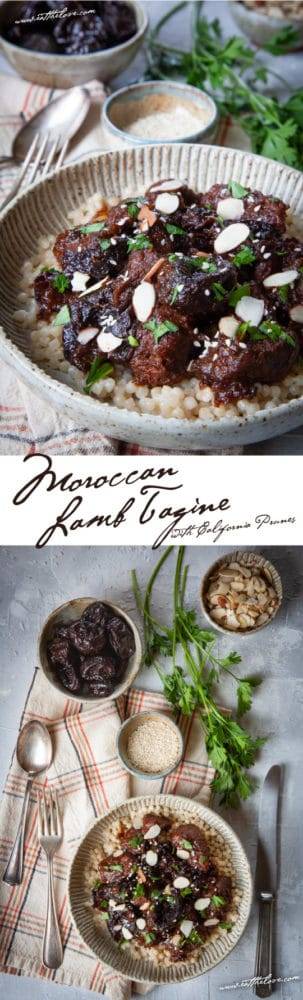Traditional Moroccan Lamb Tagine with Prunes. #easy #lamb #recipe #stew #tagine #moroccan #mediterranean #maincourse #prunes