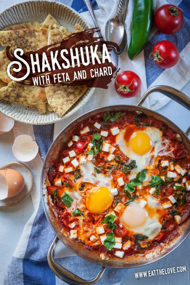 Shakshuka with Feta and Swiss Chard