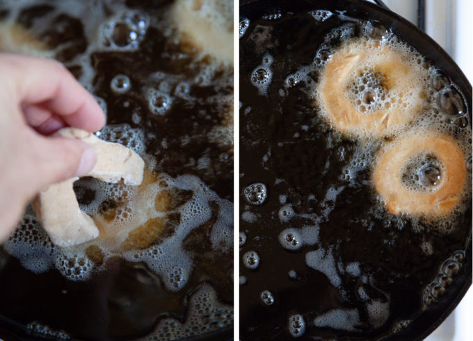 Fry the donuts