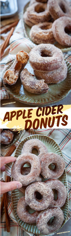 The best apple cider donut recipe! Two easy-to-find grocery store ingredients pack this donut with apple flavor without extra boiling down cider or mailing ingredients. #recipe #donut #applecider #apple #easy