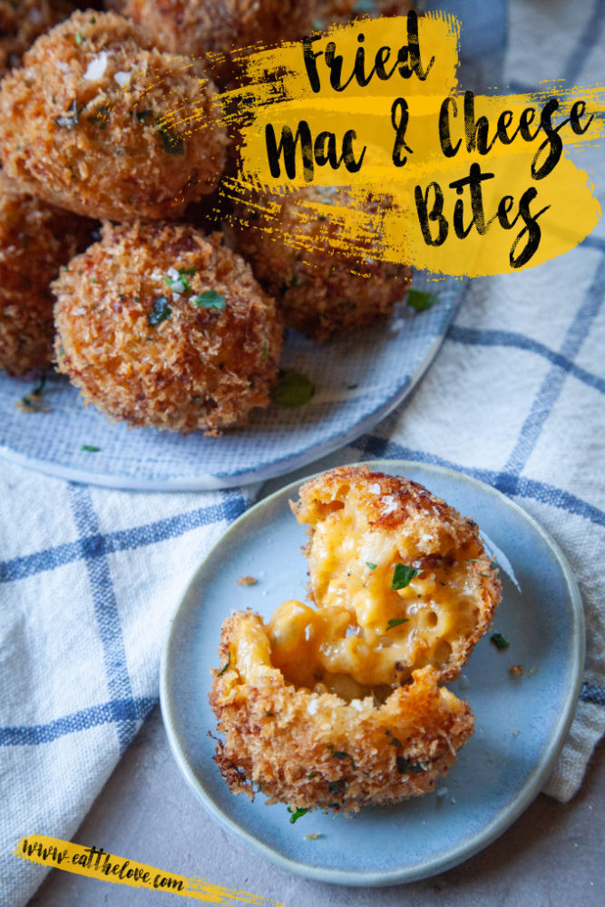 Fried Mac and Cheese Bites on a plate.