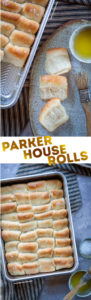 Parker House Rolls, an easy-to-make dinner roll that can be prepared the night before, letting you bake them the next day! #parkerhouserolls #baking #bread #dinnerolls #parkerhouse #thanksgiving #rolls