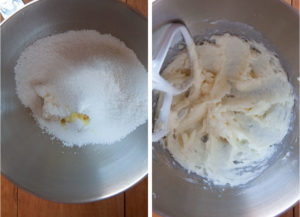 mix the powdered sugar with the cream cheese and vanilla extract until smooth.