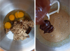 Combine ingredients together, then add melted chocolate.