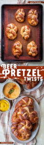 Homemade soft beer pretzels with beer in the dough itself creating a deeper more complex soft pretzel. #pretzel #softpretzel #bread #homemade #beer #recipe #gamefood #partyfood
