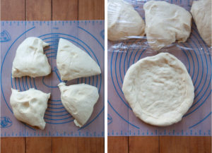 Divide dough and then form an 8-inch disk.