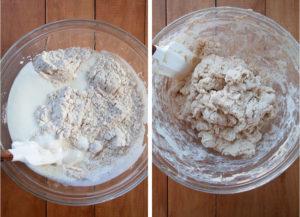 Stir until a dough forms.