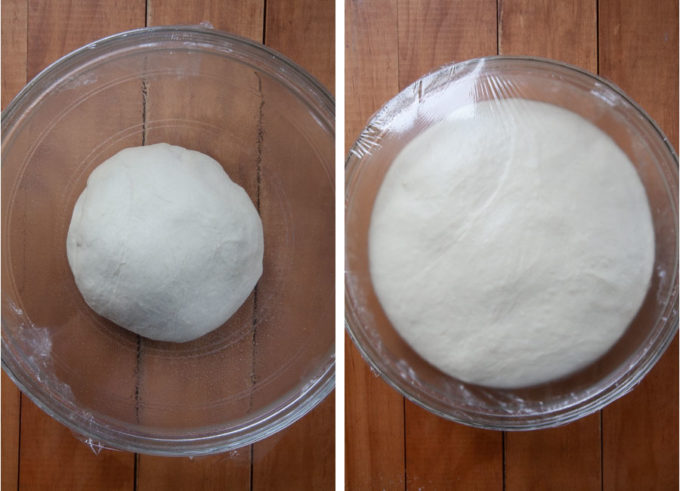 Let the dough rise until double in size.