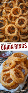 Use sourdough starter discard to make the crispiest crunchiest best onion rings ever! #onionrings #onionring #recipe #onion #frying #sourdough #discard #deepfrying #comfortfood #sidedish #snack