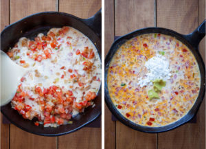 Add evaporated milk, cornstarch, mustard and spices.