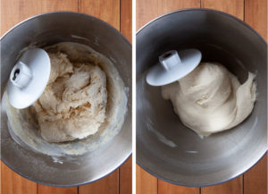 Knead the dough until the dough is smooth and elastic.