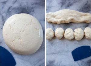 Divide the dough into 10 pieces.