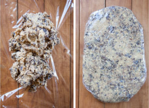 Wrap the dough in a plastic wrap and chill for 2 days in the fridge.