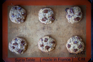 Bake cookies until slightly underbaked in the center.