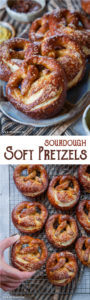 These soft sourdough pretzels are one of the easiest sourdough bread recipes out there! #sourdough #pretzels #softpretzels #bread #homemade #recipe #baking