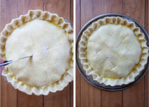 Cut some vents in the pie before cooling.