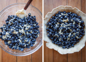 Combine filling ingredients in a bowl and add to pie crust.