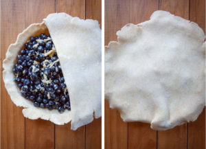 Cover the pie with the second pie crust.